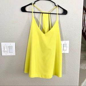 Super cute neon yellow top for the summer